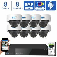 4K NVR 8MP Starlight Microphone Outdoor Indoor PoE IP 4K Security Camera System