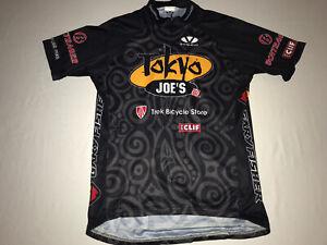 Voler Mens Size Large Tokyo Joes Cycling Jersey Black EUC!