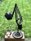 Vintage Industrial Hadrill Horstmann Magnifying Desk Lamp Counter Balance