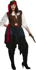 Womans Caribbean Style Pirate Fancy Dress Costume Size 14-18