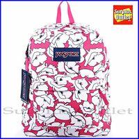 Jansport Backpack Superbreak FLORESCENTPINKS School Book Bag