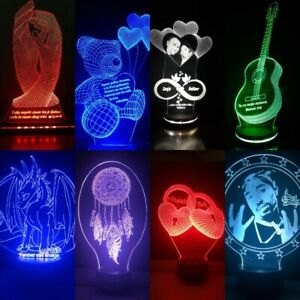 Customised LED Lamps - Birthday Gifts, Wedding Gifts, Corporate / Pets / Sports