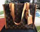 Authentic Louis Vuitton Popincourt Haut Monogram Canvas Tote Shoulder Bag