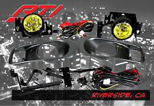 99-00 Honda Civic 2/3/4 dr EK EM JDM Yellow Fog Light Kit EX DX LX SI SiR HB HX