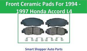 Front Ceramic Brake Pads for 1994 1995 1996 1997 Honda Accord L4