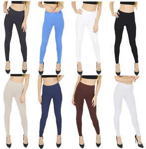 UK Thick Cotton Full Length Leggings All Colours and Sizes