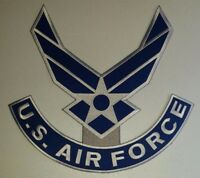 """UNITED STATES  AIR FORCE  LOGO III  WINGS  Patch   5.5"""" wide x 5"""" tall"""