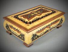 Magnifique boîte à bijoux musicale marqueté REUGE suisse 18 lames - romance 1748