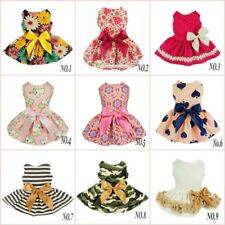 Fitwarm Cute Dog Party Clothes Girl Dog Pink Dress Bow Pet Cat Shirt Birthday