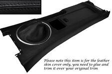 BLACK STITCH CENTRE CONSOLE & GEAR GAITER SKIN COVERS FITS MAZDA MX5 MK3 05-13