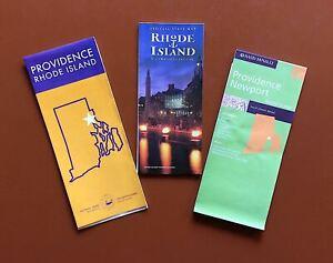 Three Detailed Maps of Providence / Newport / Rhode Island