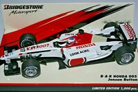 1:43 J BUTTON - BAR Honda 005, 2003, Bridgestone limited edition - F1 Minichamps
