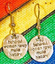 WELL BEHAVED WOMEN Earrings Stainless Hook New RARELY MAKE HISTORY