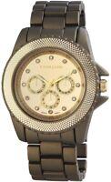 Excellanc Damenuhr Gold Bronze Chrono-Look Analog Metall Quarz X150954000011