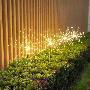 90 LED Solar Powered Firework Starburst Fairy Light Garden Outdoor Decoration