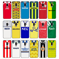 RETRO FOOTBALL SHIRTS Glass Case Cover for Samsung Galaxy S8 S9 S10 EDGE PLUS
