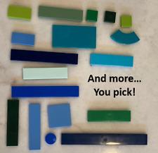 Lego Tiles Blue Green Azure Lime Dark YOU CHOOSE SIZE lot flats smooth Floors
