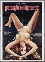 PORNO SHOCK MANIFESTO CINEMA FILM EROTICO JESUS FRANCO 1977 SEXY MOVIE POSTER 2F