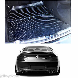 BMW F13 6 Series coupe 2011+ black rubber boot mat load liner boot lip protector