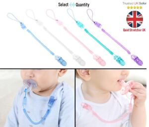 Baby Infant Toddler Spring Dummy String Pacifier Soother Clip Chain Holder Strap