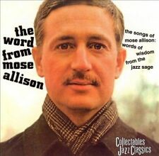 Brand NEW! The Word from Mose Allison CD (Collectables) Rare & OOP!