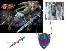 The Legend of Zelda Hyland Link To Past Shield & Master Swords Daggers Necklace