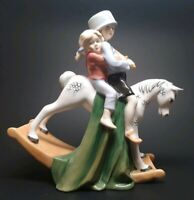 ROYAL DOULTON Figurine HOLD TIGHT HN3298 Rocking Horse Figure - Retired - READ