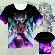 Japan Anime VOCALOID Hatsune Miku Casual Summer Short Sleeve T-Shirt Tops Q11
