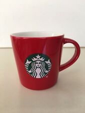 Starbucks Small Red Coffee Mug Espresso Demitasse Cup 3 Fl Oz 2015 Logo