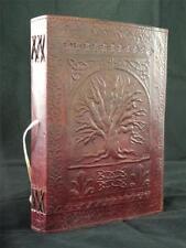 Celtique Arbre de vie fait main cuir Pagan Wicca journal diary book-de-Ombres
