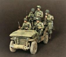 Unpainted 1/35 US Soldiers WWII WW2 Resin Figure Model Kit Unassembled (no car)