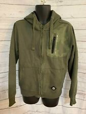 Cross Hatch Black Label Men's Khaki Cotton Blend Full Zip Hoodie Size M
