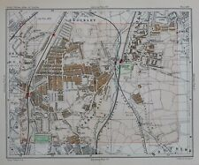1896 MAP STREET PLAN LONDON BROCKLEY CATFORD RUSHY GREEN PERRY HILL COLLEGE