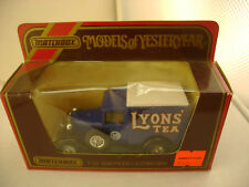 MATCHBOX MODELS OF YESTERYEAR 1:40 Y-22 1930 MODEL A FORD VAN LYON'S TEA NEW IN