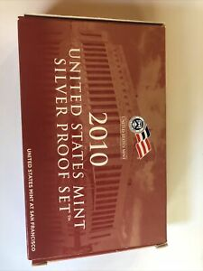 2010 US MINT SILVER PROOF SET WITH BOX AND COA