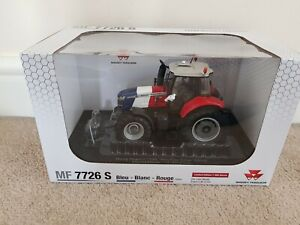 UH MASSEY FERGUSON 7726S TRACTOR 1/32 SCALE - BLEU BLANC ROUGE LIMITED EDITION