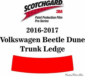 3M Scotchgard Paint Protection Film Pro Series 2016 2017 Volkswagen Beetle Dune