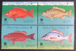 Turks & Caicos - WWF - Snappers - Set & FDCs - Unmounted Mint.