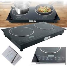 New listing Induction Cooktop Double Burner Sensor Touch Stove for Magnetic Cookware w/Lock