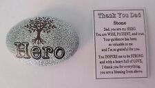 L Hero tree Message stone POCKET TOKEN figurine Thank you Dad Ganz military