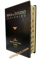 Biblia De Estudio Teologico Piel Negro e Index Reina Valera 1960