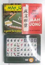 VINTAGE MAH JONG SET + THE GAME OF MAH JONG BOOK MAX ROBERTSON COMPLETE