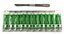 10 Scalpel Blades #10 Includes #3 Metal Handle Suitable for Dermaplaning, Crafts