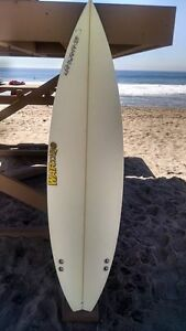 "Warner Surfboards WB008-US015: 6'2"" Short Board Hand Shaped In Australia"