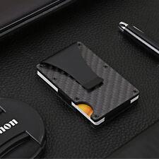 Mens RFID Blocking Slim Money Clip Wallet Credit Card ID Holder Thin Minimalist