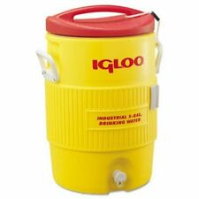 Igloo Industrial Water Cooler, 5 Gallon, Yellow/Red, 1 Each (IGL451)