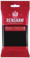 Renshaw Fondant pro Jet Black 250g Rollfondant schwarz