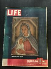 Life Magazine December 25 1944 Madonna and Child