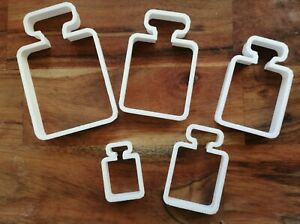 Perfume Bottle Square Cookie Cutter Biscuit Dough Mothers Day 5 Sizes SH61-65