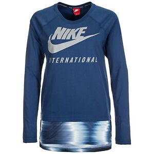 Nike International Long Sleeve Top- Women's Size Medium- Coastal Blue